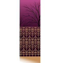Decorative fence Background vector image vector image