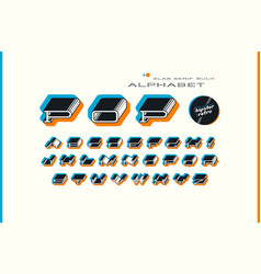 Decorative slab serif bulk extended font vector