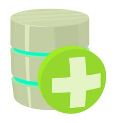 Diagnosis database icon cartoon style vector