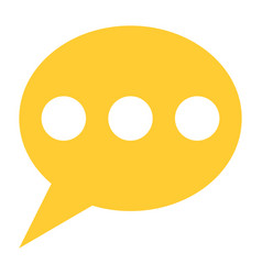 Flat speech bubble icon chat room sign button vector