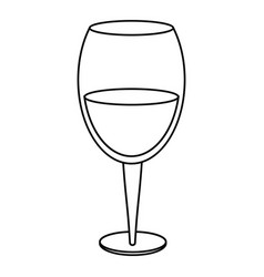 glass cup wine drink thin line vector image vector image