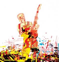 guitarist paint vector image vector image