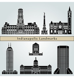 Indianapolis landmarks and monuments vector image vector image