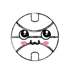Kawaii basketball ball icon vector