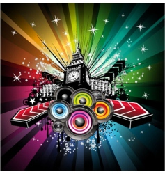 London musical event background vector image vector image