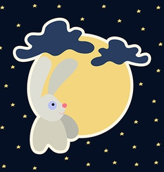 Moon rabbit of Mid Autumn Festival Chuseok vector image