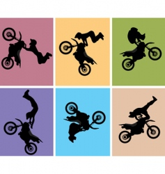 motocross jump vector image vector image