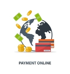 Payment online vector image