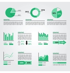 Set of Infographics Elements Green Colors vector image vector image