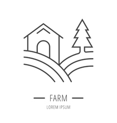 Simple logo template farm vector