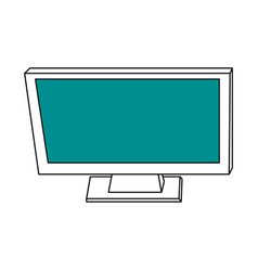 Sketch color silhouette top view desk computer vector