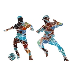 Soccer color vector image vector image