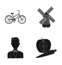 Sports travel and other web icon in black style vector
