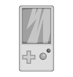 Tetris for games icon black monochrome style vector