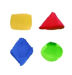 Watercolor shape set vector image vector image