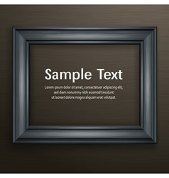Wooden black frame on dark vector image vector image