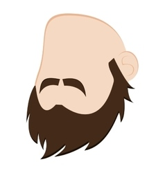 Faceless man head with facial hair icon vector