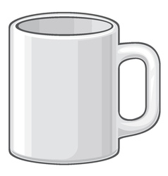 Coffee mug - white cup vector
