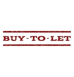 Buy-to-let watermark stamp vector