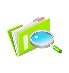 Icon file and magnifying glass vector