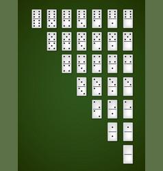 Dominoes bones set vector