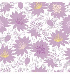 Purple shadow florals seamless pattern background vector image