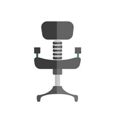 Cartoon comfortable simple black office chair vector