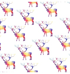 Seamless background with geometric deer vector