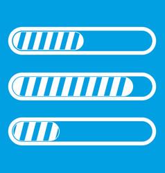 Sign horizontal columns load icon white vector