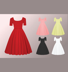 Woman glamour dress vector
