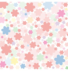 Background of colored flowers vector