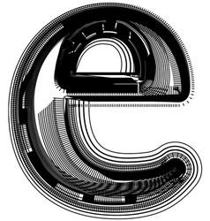Abstract font letter e vector