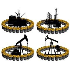 Petroleum business-1 vector image