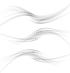 gray banners vector image