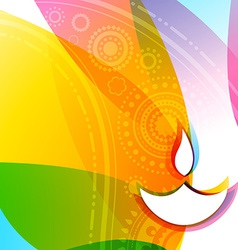 colorful diwali background vector image