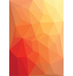 Abstract red low poly vector