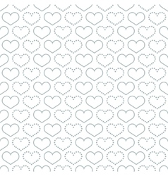 Simple seamless pattern with heart symbol vector