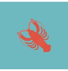 Crawfish flat icon vector