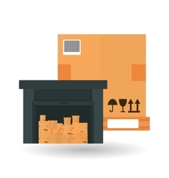Delivery and box design vector