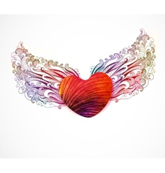 Abstract heart with wings EPS 10 vector image vector image