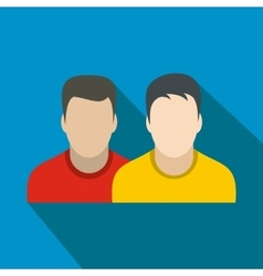 Avatar two men flat icon vector