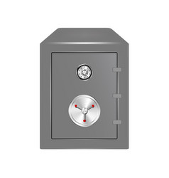 Bank safe with combination lock vector