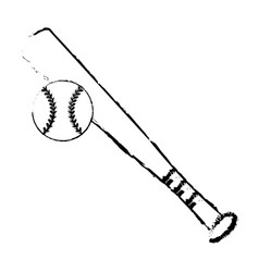 Baseball bat ball sport image sketch vector