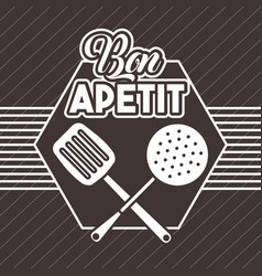 Bon appetit image vector