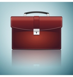 Briefcase red business icon isolated on blue vector
