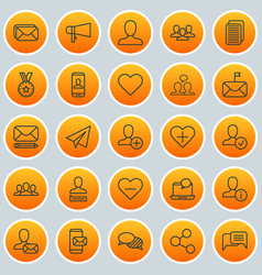 Communication icons set collection of publication vector