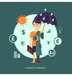 Concept of Climate finance vector image vector image