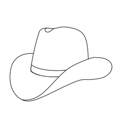 Cowboy hat icon in outline style isolated on white vector image