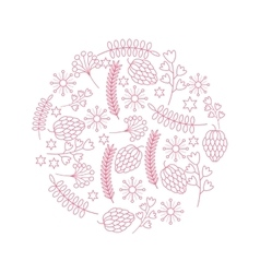 Decorative ornament of leaves and branches vector