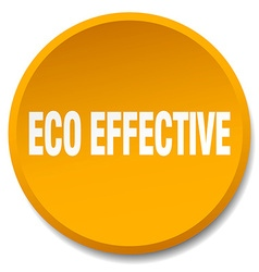 eco effective orange round flat isolated push vector image
